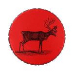 Ejemplo del reno del vintage - navidad 1800's jarrones de caramelos
