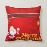 Ejemplo del rojo de las Felices Navidad Almohadas