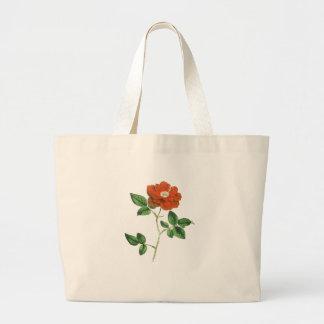 Ejemplo del rosa rojo del vintage bolsa tela grande