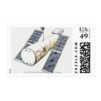 Ejemplo del satélite usado para detectar timbre postal