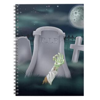 Ejemplo del sepulcro del zombi libro de apuntes con espiral