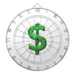 Ejemplo del símbolo de la muestra del dinero del tabla dardos
