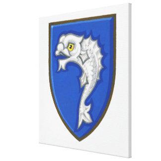 Ejemplo del símbolo heráldico de los pescados en impresiones en lona estiradas