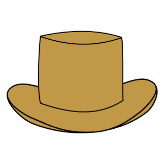 Ejemplo del sombrero de copa. Brown Escultura Fotográfica