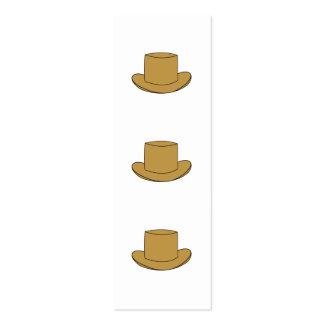 Ejemplo del sombrero de copa Brown Tarjetas Personales