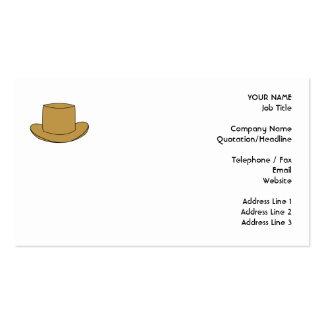 Ejemplo del sombrero de copa Brown Plantilla De Tarjeta Personal
