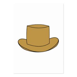 Ejemplo del sombrero de copa. Brown Tarjeta Personal