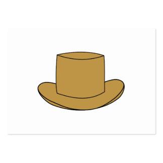 Ejemplo del sombrero de copa. Brown Plantilla De Tarjeta Personal