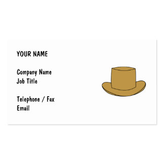 Ejemplo del sombrero de copa Brown Plantilla De Tarjeta De Visita