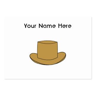 Ejemplo del sombrero de copa. Brown Tarjetas De Visita