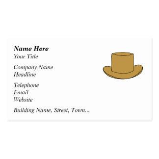 Ejemplo del sombrero de copa Brown Tarjeta De Negocio