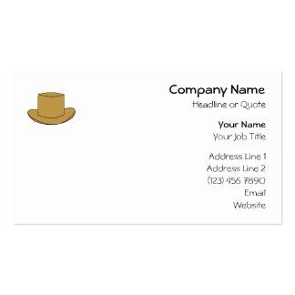 Ejemplo del sombrero de copa Brown Tarjeta Personal