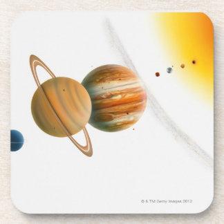 Ejemplo del Sun, Mercury, luna de Venus Posavasos De Bebidas