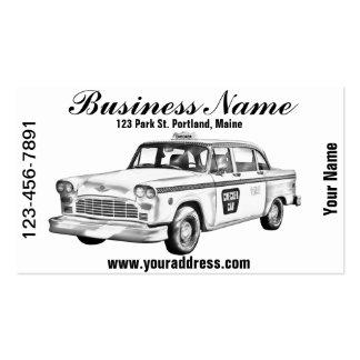 Ejemplo del taxi del inspector tarjetas de visita