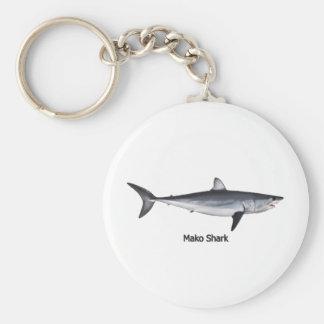 Ejemplo del tiburón de Mako de Shortfin Llavero Redondo Tipo Pin
