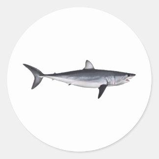 Ejemplo del tiburón de Mako de Shortfin Pegatina Redonda