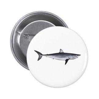Ejemplo del tiburón de Mako de Shortfin Pin Redondo De 2 Pulgadas