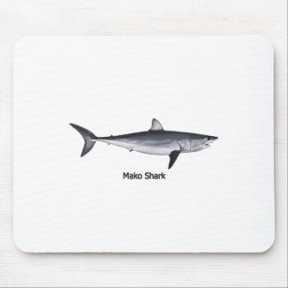 Ejemplo del tiburón de Mako de Shortfin Tapete De Ratones