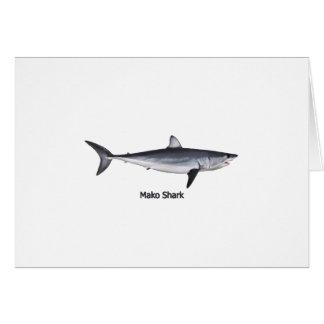 Ejemplo del tiburón de Mako de Shortfin Tarjeta De Felicitación