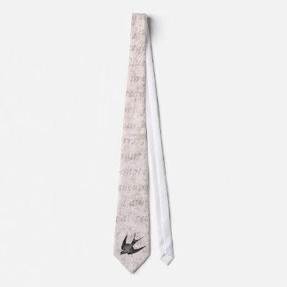 Ejemplo del trago del vintage - pájaro antiguo 180 corbata personalizada