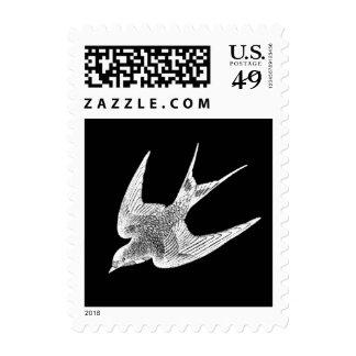 Ejemplo del trago del vintage - pájaro antiguo franqueo