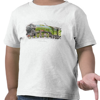 Ejemplo del tren del Scotsman del vuelo Camisetas