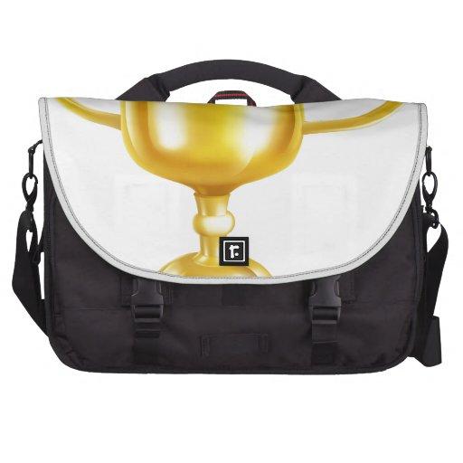 Ejemplo del trofeo del oro bolsas de portatil