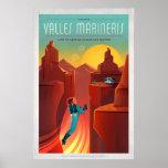 Ejemplo del turismo de espacio de Marte Valles Póster