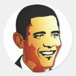 Ejemplo del vector de Barack Obama Etiqueta Redonda