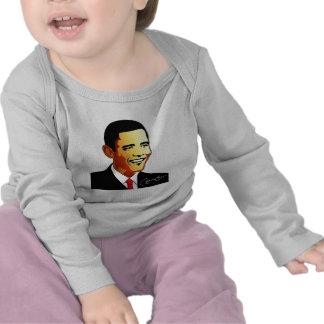 Ejemplo del vector de Barack Obama Camisetas