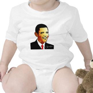 Ejemplo del vector de Barack Obama Traje De Bebé