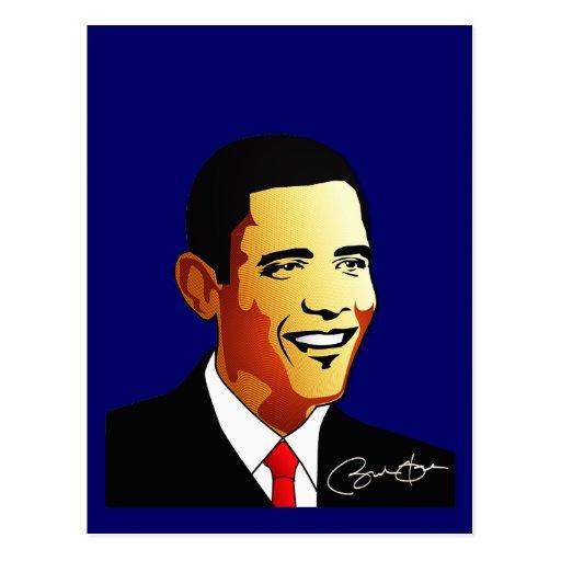 Ejemplo del vector de Barack Obama Postales