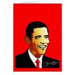 Ejemplo del vector de Barack Obama Tarjeta