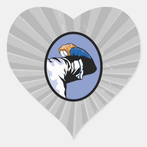 ejemplo del vector de la jarra del tiro del pegatina corazón personalizadas