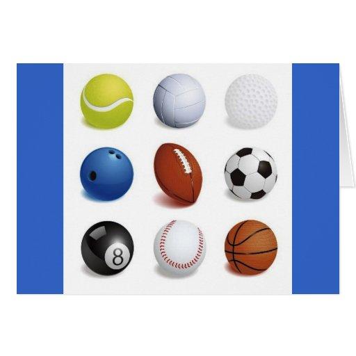 Ejemplo del vector de las bolas del deporte tarjeta