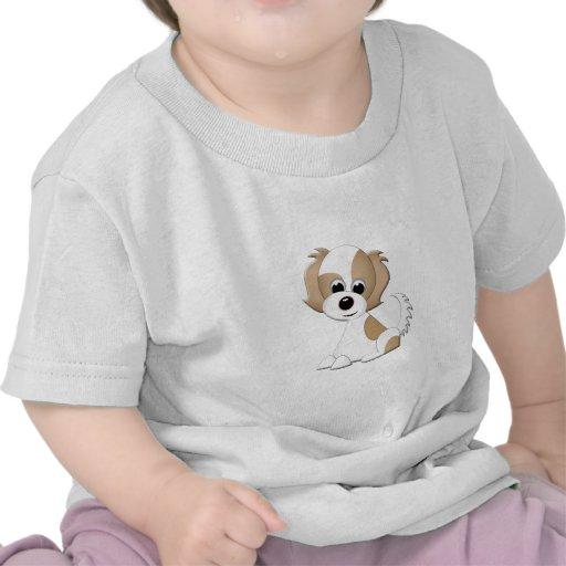 Ejemplo del vector de un perrito camisetas