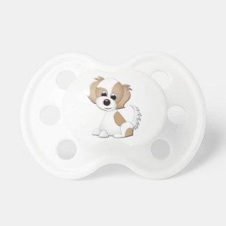 Ejemplo del vector de un perrito chupetes para bebes