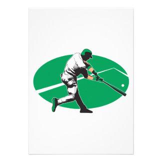ejemplo del vector del bateador del béisbol invitacion personalizada