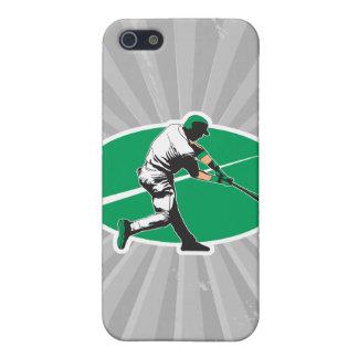 ejemplo del vector del bateador del béisbol iPhone 5 funda