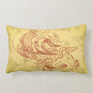 ejemplo del vector del koi del estilo del vintage almohada