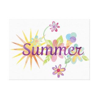 Ejemplo del verano impresión en lienzo