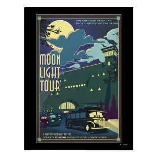 Ejemplo del viaje de la luz de luna postal