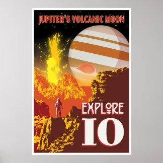Ejemplo del viaje espacial de Júpiter Io Póster