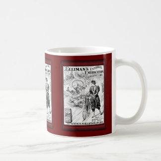 Ejemplo del vintage - anuncio de la embrocación taza de café