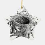 ejemplo del vintage de la jerarquía del pájaro adorno navideño de cerámica en forma de estrella