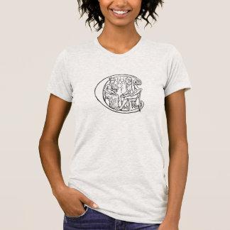 Ejemplo del vintage de la letra c camisetas