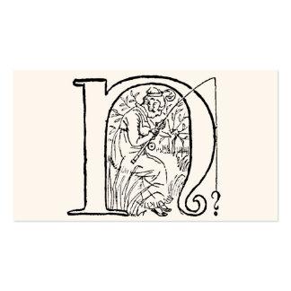 Ejemplo del vintage de la letra N Tarjeta De Visita