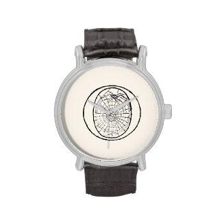 Ejemplo del vintage de la letra O Reloj De Mano