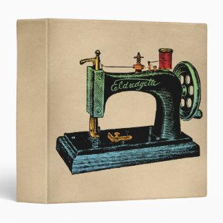 "Ejemplo del vintage de la máquina de coser carpeta 1 1/2"""