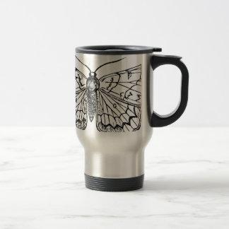 ejemplo del vintage de la mariposa taza